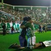 Fans of Chapecoense soccer team pay tribute to Chapecoense's players at the Arena Conda stadium in Chapeco