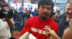 Manny Pacquiao Media Training Day