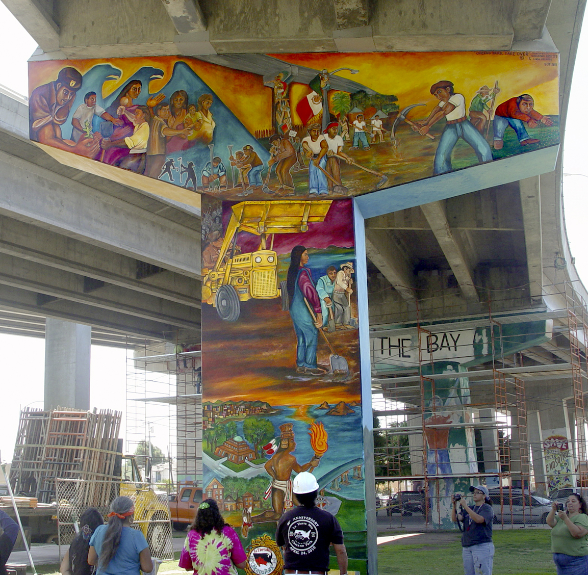 Chicano park takeover a complete success la prensa san for Mural una familia chicana