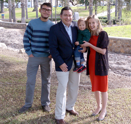 Steve Castañeda with his wife Tanya, and two sons Andrew 19; Rocco John 2 yrs.