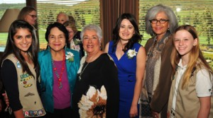 (Left to right) Andrea Quintanar, Dolores Huerta, Irma Castro, Rosibel Mancillas-Lopez, Carmen Vazquez and Roni Nelson attended Girl Scouts' San Diego's 10 Cool Women of 2013 luncheon, where Huerta and Mancillas-Lopez were honored.
