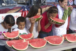 A watermelon eating contest is one of the favorites at the San Ysidro 4th of July event. File photo.