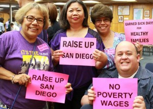 Employees of San Diego have a lot to smile with the adopted wage increase. Courtesy: Raise Up San Diego