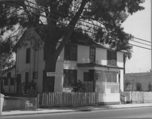 """The San Ysidro Hotel was first established in 1910 by a man named George Beecher. The hotel became the location where William Smythe auctioned off land for his utopian Little Landers. The 300 colonists who lived here began to call the town """"San Ysidro"""" after the patron saint of farmers. Photo Courtesy of Friends of San Ysidro."""