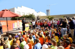 At a groundbreaking ceremony held Oct. 25 for the new Urban Discovery Academy's campus in the East Village, San Diego City Council President Todd Gloria told a group of students, parents and community leaders that educational opportunities downtown would benefit the entire community.