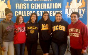 2015 Reality Changers, Gates Scholars. From left to right: Hiwet Weldeselase, Frida Durazo, Tania Barajas, Stephanie Bueno, Lesley Guarena, and Darian Martos.