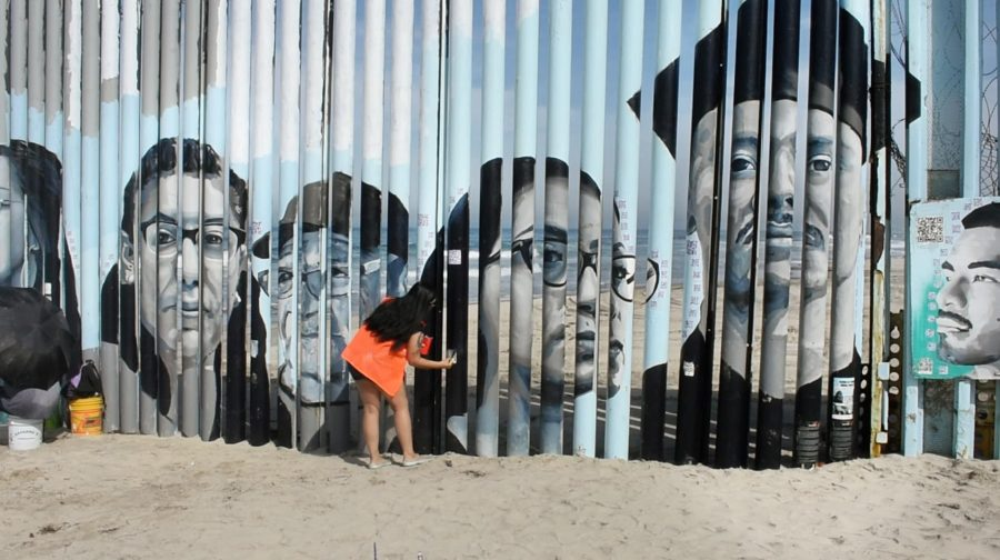 Work on Border Wall Immigration Mural Stopped During COVID-19 Crisis